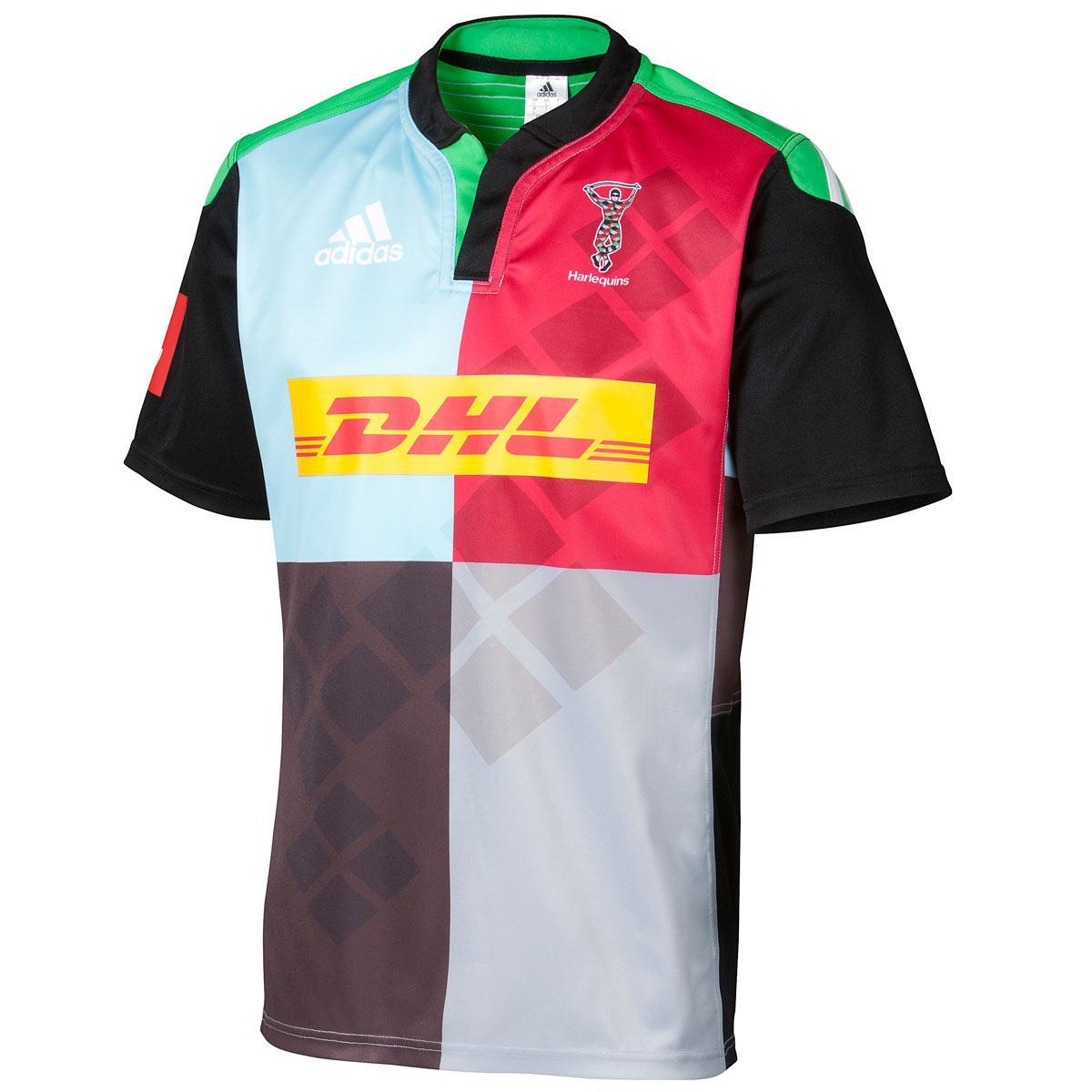 Adidas Rugby Home: Harlequins 2014/15 Adidas Home & Alternate Shirts