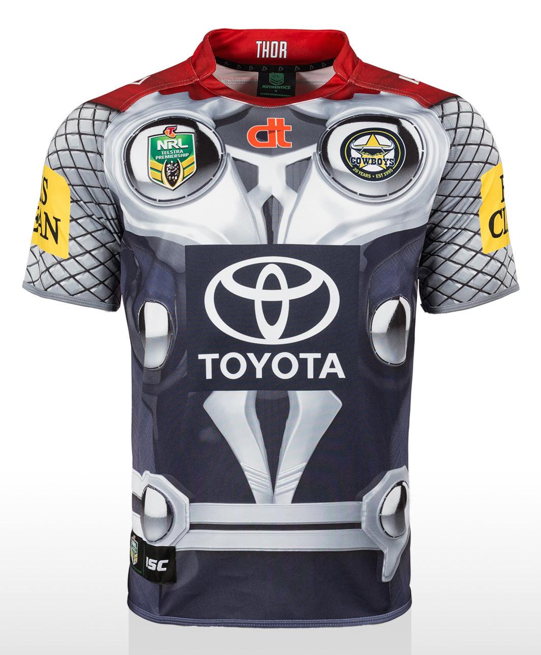 T shirt design qld - North Queensland Cowboys Thor Shirt