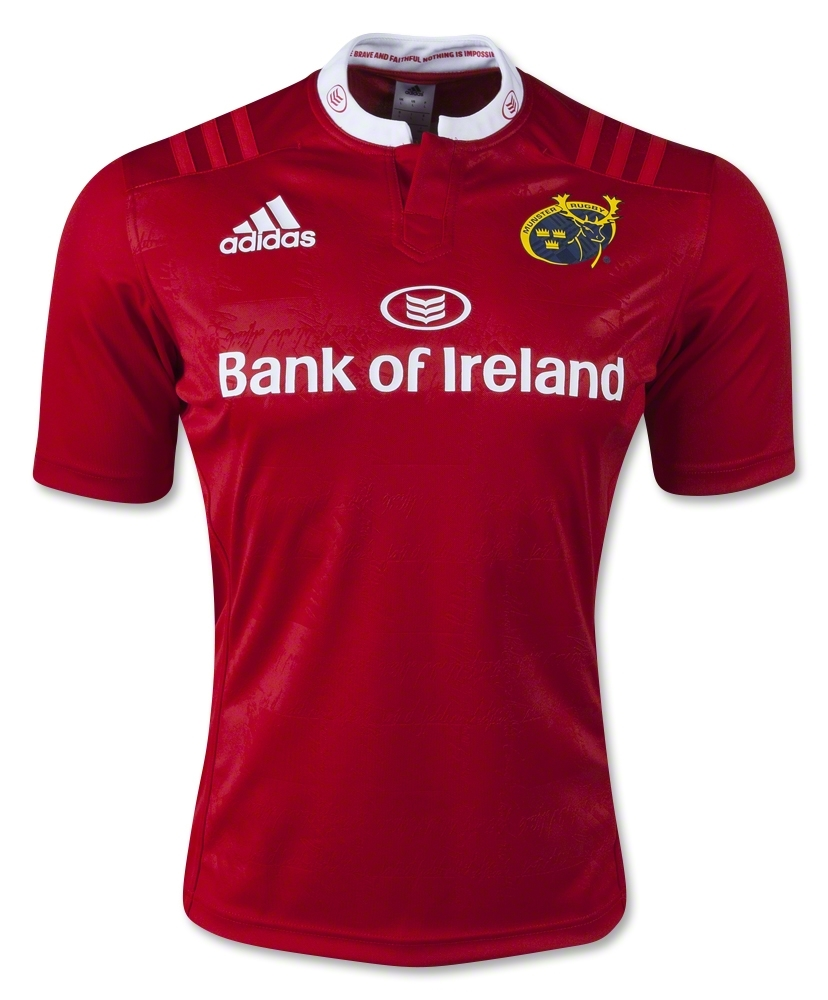 Guinness Pro12: Munster Rugby Adidas 2015/16 Home & Alternate Shirt