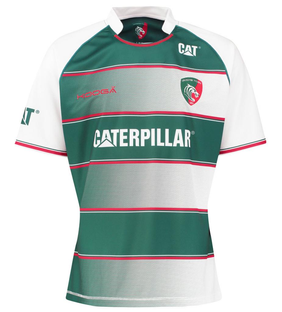 Design shirt kooga - Leicester Tigers Kooga 2015 16 Home Shirt