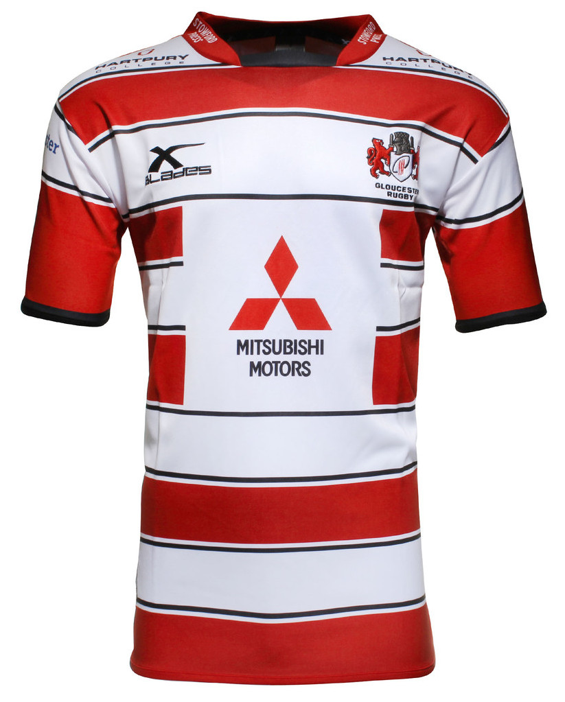 Gloucester Rugby Xblades 2015 16 Home Amp Alternate Shirts