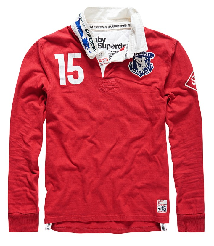 RUGBY BY SUPERDRY - WORLD LEGENDS - VALIANT - BLOOD RED £74.99