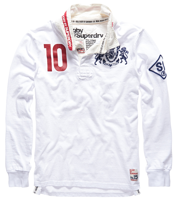 RUGBY BY SUPERDRY - WORLD LEGENDS - VALIANT - OPTIC WHITE £74.99