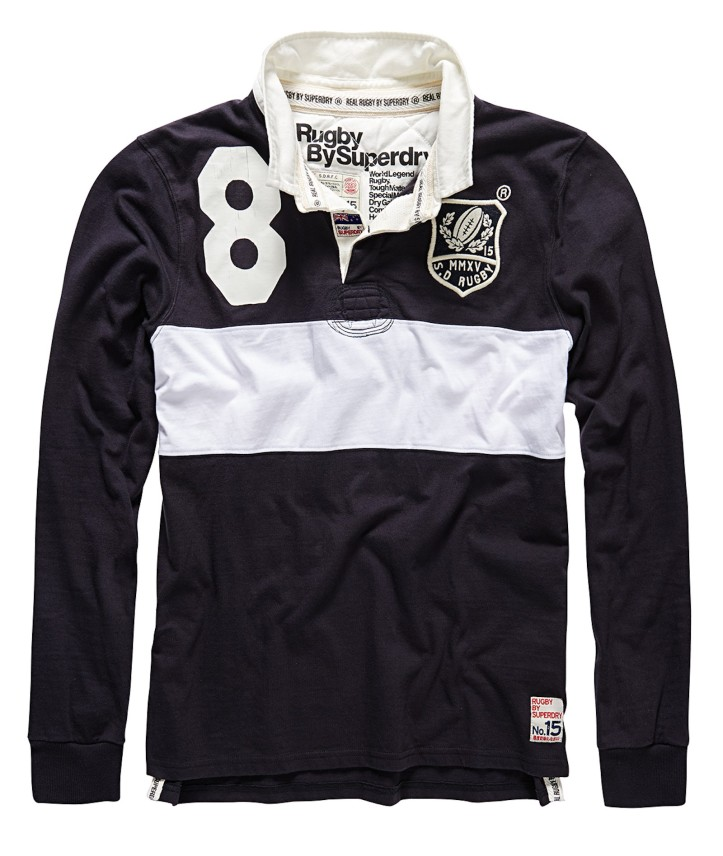 RUGBY BY SUPERDRY - WORLD LEGENDS - VINTAGE BLACK MIX £74.99