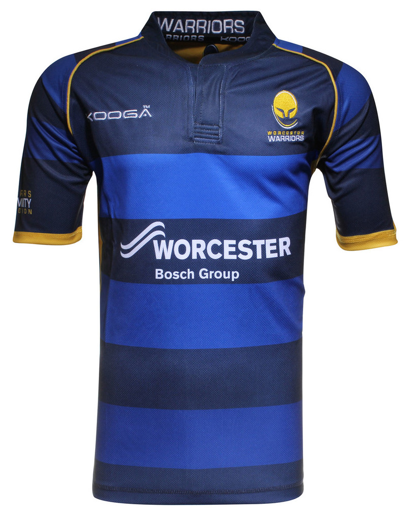 Design shirt kooga - Worcester Warriors Kooga 2015 16 Home Away Shirts