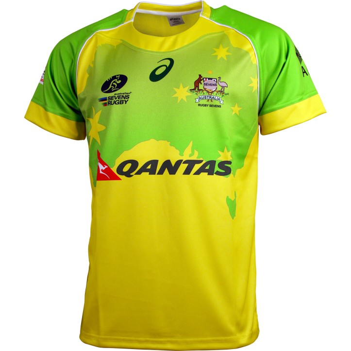 Australia Sevens Asics 2015 16 Home Alternate Shirts Rugby Shirt