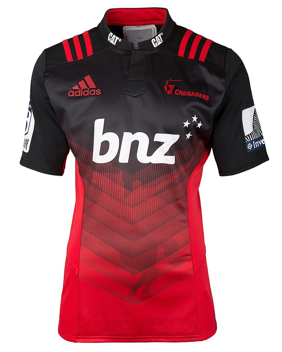Crusaders Super Rugby Training Session: Crusaders Adidas Super Rugby 2016 Home Shirt