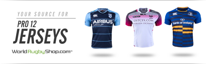 Click to shop Pro12 jerseys