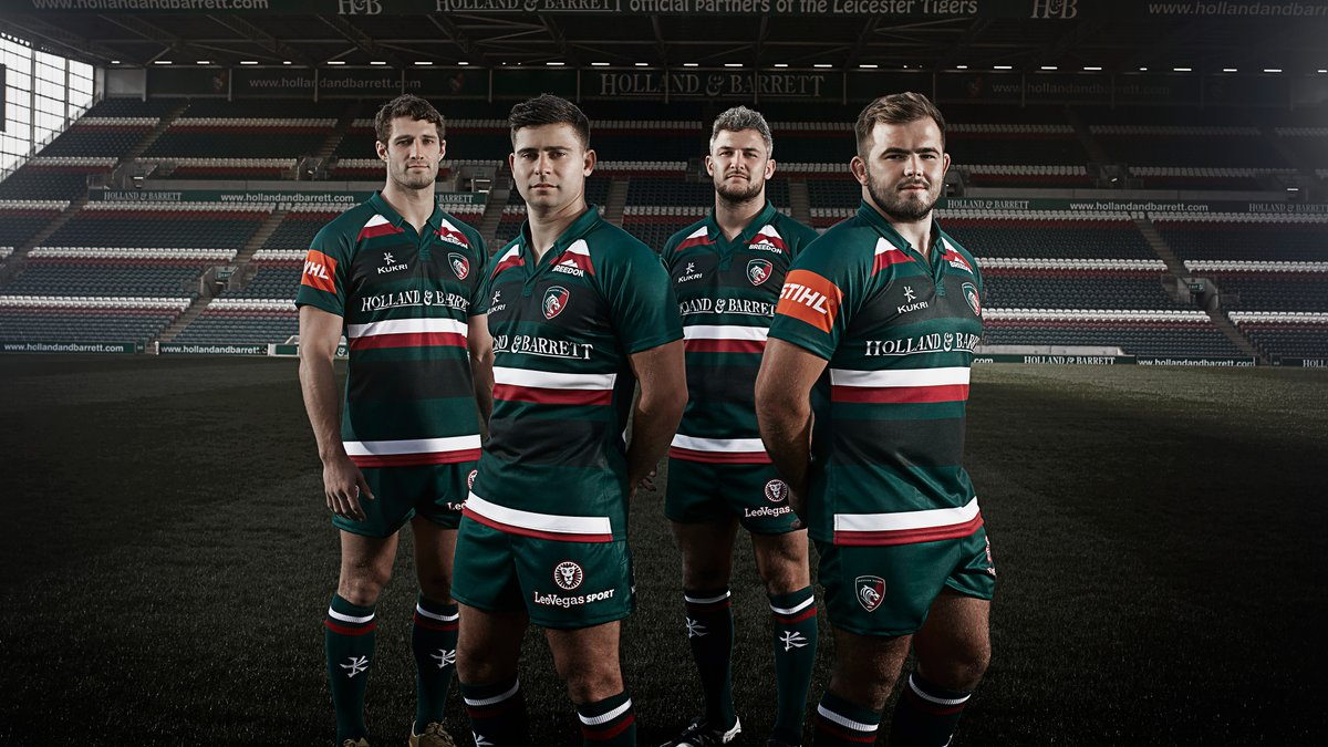 Leicester Tigers 2017/18 Kukri Home & Away Shirts – Rugby ...