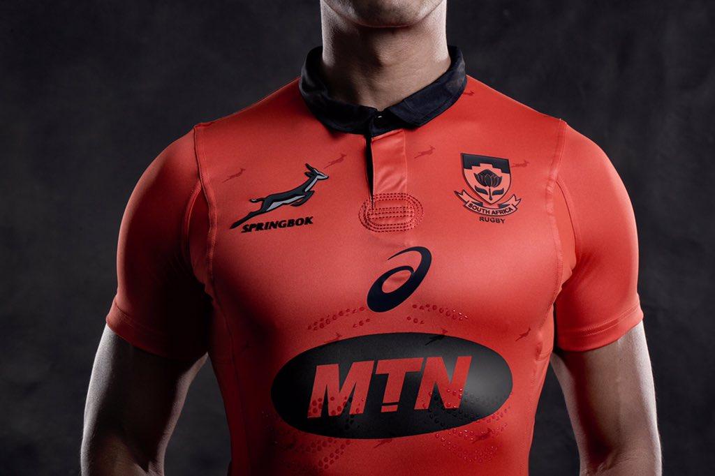 8b746094eec3 South Africa Springboks 2017 18 ASICS Alternate Shirt – Rugby Shirt ...