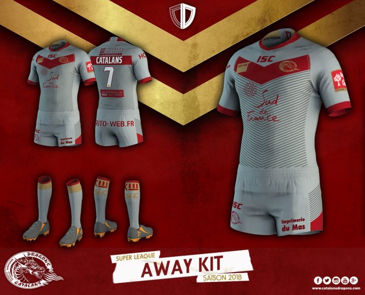 3426b6e84 NEWS  Catalan Dragons reveal 2018 ISC Sport shirts – Rugby Shirt Watch