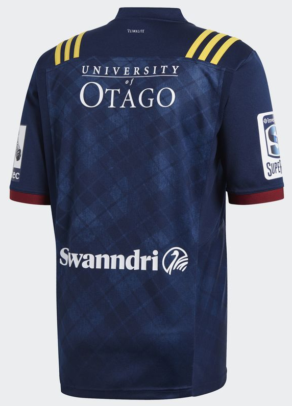 c0e417dd2 Highlanders Rugby Super Rugby 2018 Adidas Home & Away Shirts – Rugby ...