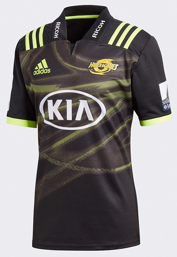 Hurricanes Rugby Super Rugby 2018/19 Adidas Home & Away Shirts ...