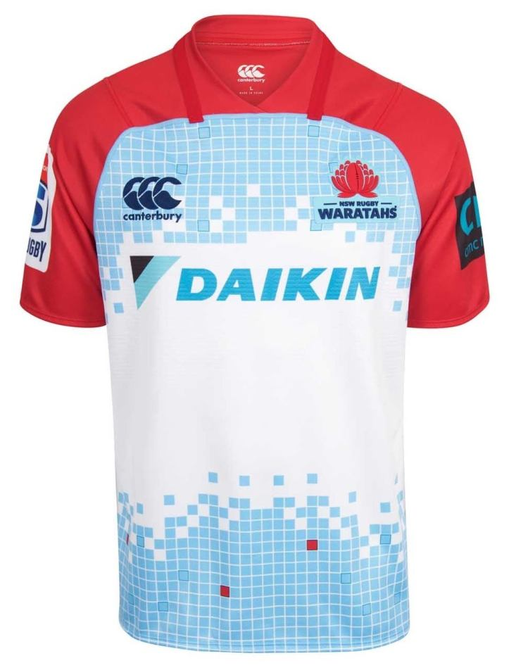 5bdb576a6ee New South Wales Waratahs Super Rugby 2018 Canterbury Home & Away ...
