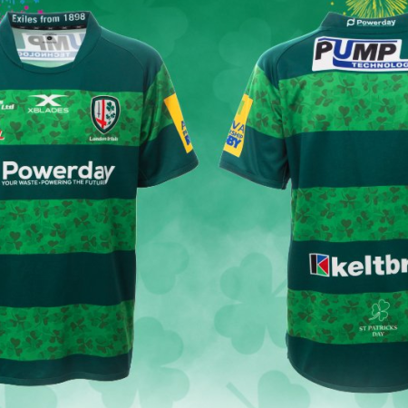 75444a2966b NEWS: London Irish reveal X-Blades St Patrick's Day Shirt