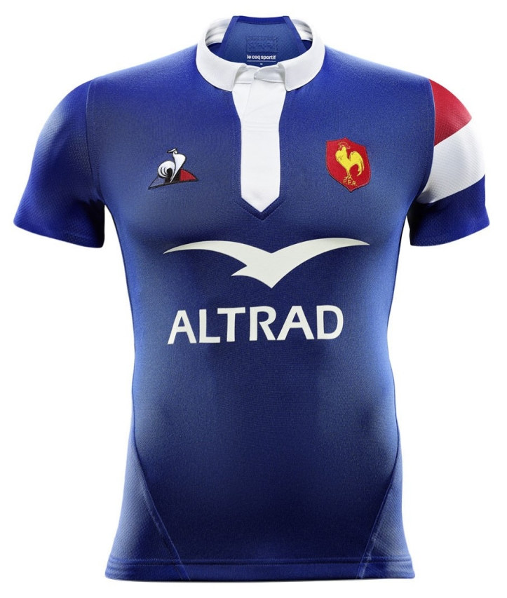 new product 8d43f ca36f France Rugby 2018/19 Le Coq Sportif Home Shirt – Rugby Shirt ...