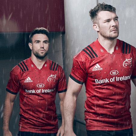 bcc345e46bc Munster Rugby 2018/19 Adidas European Shirt