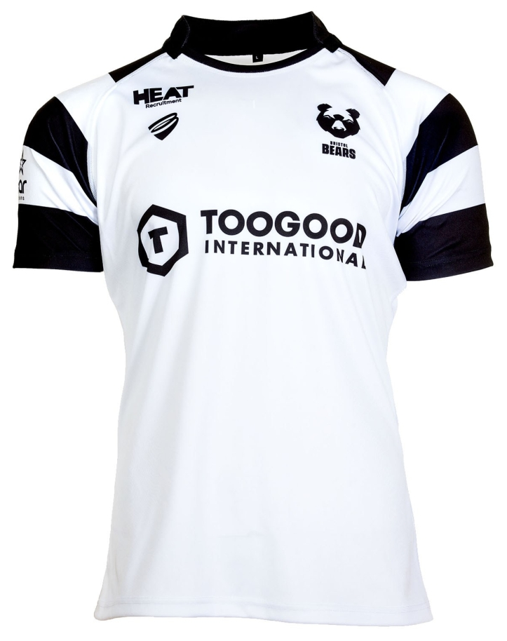 the away shirt is a good deal more simply compared to the undeniably intricate and modern home design the plain white shirt with black hooped sleeves is